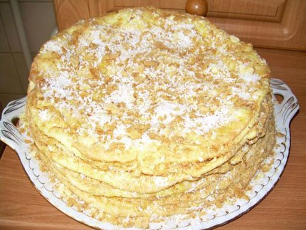 Торт наполеон на пиве, пошаговый фото рецепт