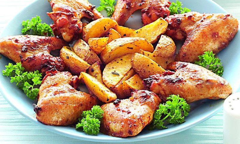Рецепт: Запеченные куриные крылышки