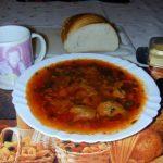 Рецепт: борщ московский