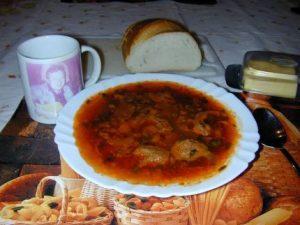 Рецепт: Борщ по Полтавски с галушками