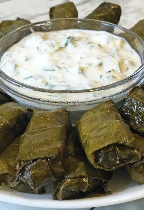 Рецепт с фото: Долма из виноградных листьев и баранины. Долма с бараниной.