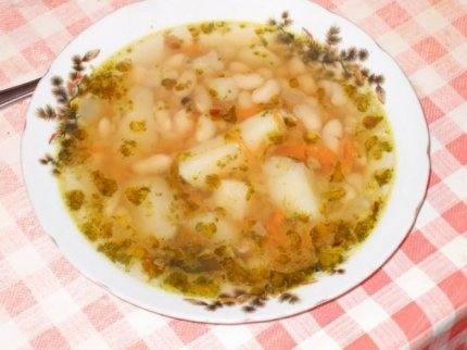 Рецепт с фото: Фасолевый суп. Приготовить суп с фасоли.