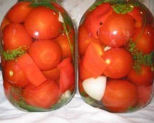 Рецепт солёных помидор на зиму - Консервация, заготовка помидор