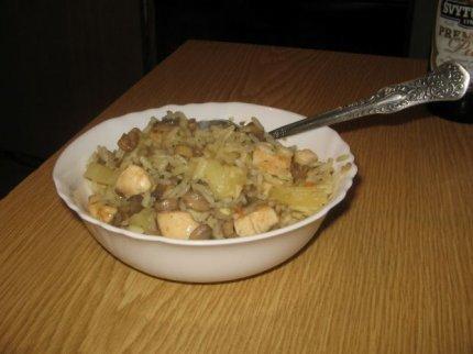 Рецепт: Куриная грудка с ананасом