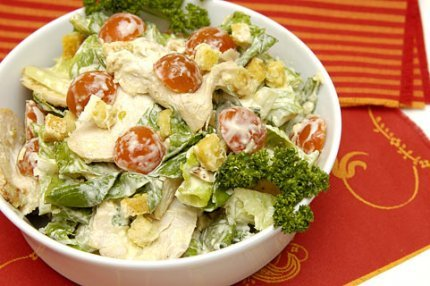 Рецепт с фото: Салат цезарь. Настоящий цезарь салат.