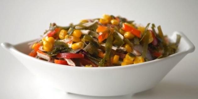 Рецепт с фото: Салат с морской капустой