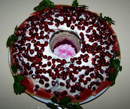 Рецепт с фото: Салат Гранатовый браслет