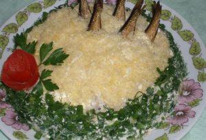 Рецепт с фото: Салат рыбки в пруду.