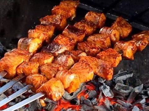 Рецепт с фото: Шашлык из семги