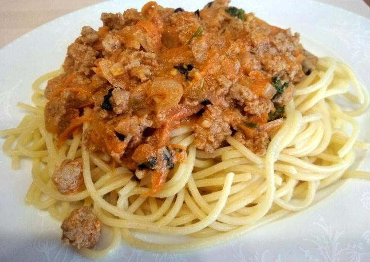 Рецепт с фото: Спагетти с мясной подливой