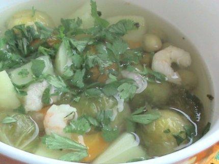 Рецепт с фото: Суп с креветками