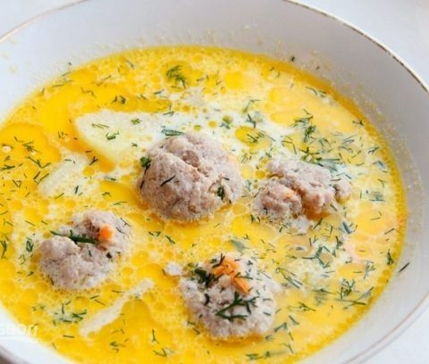 Рецепт с фото: Суп с фрикадельками