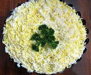 Рецепт с фото: Тетушкин салат. Как мимоза.